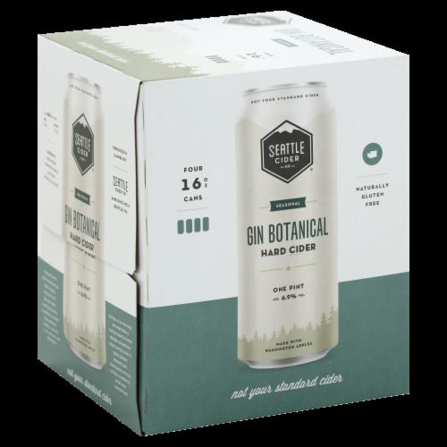 Seattle Cider Gin Botanical Hard Cider Perspective: front