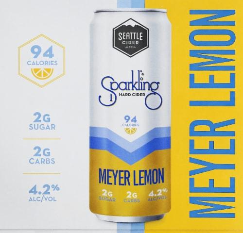 Seattle Cider Meyer Lemon Sparkling Hard Cider Perspective: front