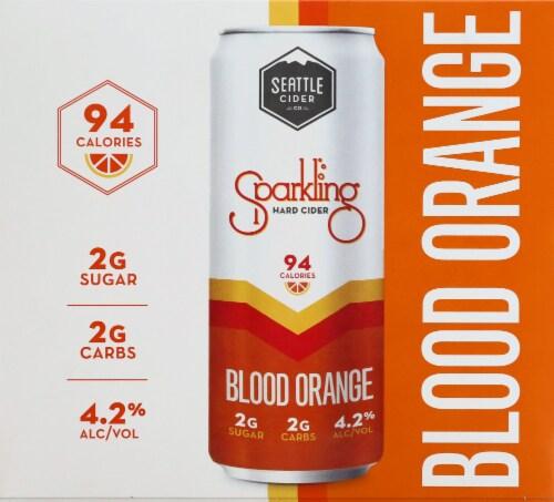 Seattle Cider Blood Orange Sparkling Hard Cider Perspective: front