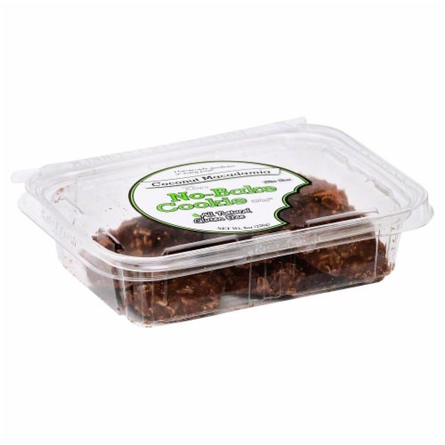 The No-Bake Co Coconut Macadamia Cookies Perspective: front