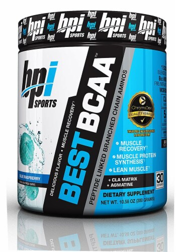 BPI  Sports Best BCAA™   Blue Raspberry Perspective: front