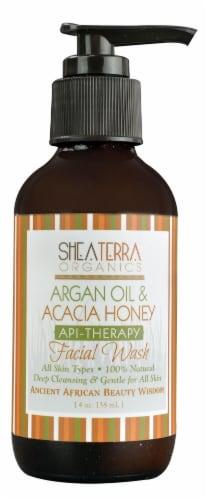 Shea Terra Organics  API-Therapy Facial Wash Argan Oil & Acacia Honey Perspective: front