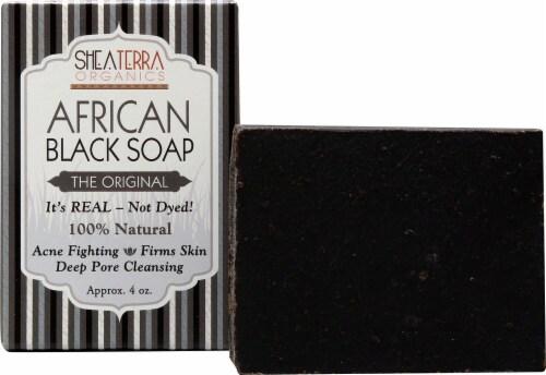 Shea Terra Organics African Black Soap Bath Bar Perspective: front