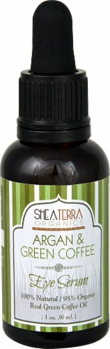 Shea Terra Organics  Argan & Green Coffee Eye Serum Perspective: front