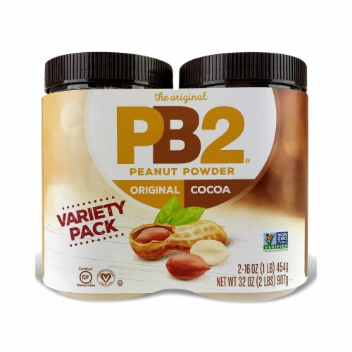 PB2 Powdered Peanut Butter & PB2 with Cocoa Combo Pack Perspective: front