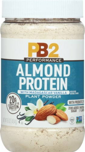 PB2 Performance Almond Protein with Vanilla Powder Perspective: front