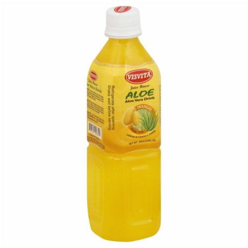 Visvita Mango Aloe Vera Drink Perspective: front