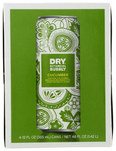 DRY Sparkling Cucumber Soda Perspective: front
