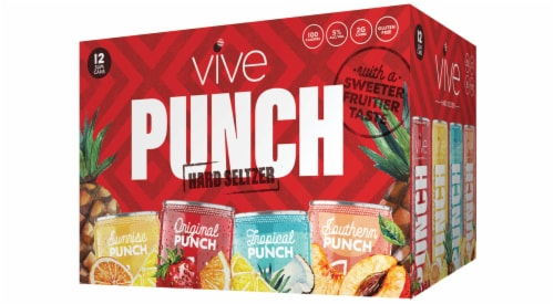 VIVE Hard Seltzer Punch Pack Perspective: front