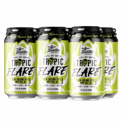 Braxton Tropic Flare Triple Dry Hopped New England Style IPA Perspective: front