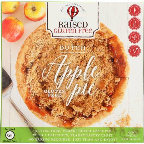 Raised Gluten Free Dutch Apple Pie Perspective: front