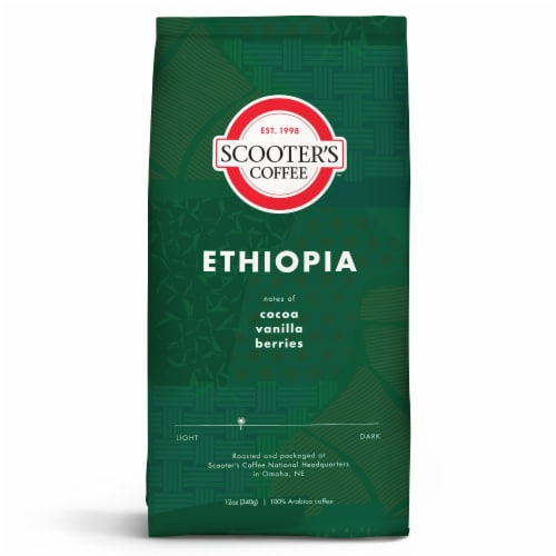 Scooter's Coffee Ethiopia Ground Coffee Perspective: front