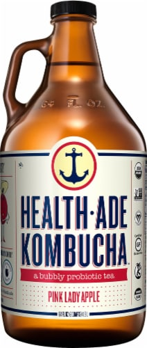 Health-Ade Pink Lady Apple Kombucha Perspective: front