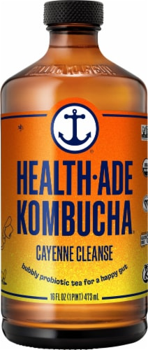 Health-Ade Cayenne Cleanse Kombucha Perspective: front