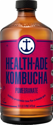 Health Ade Pomegranate Kombucha Perspective: front