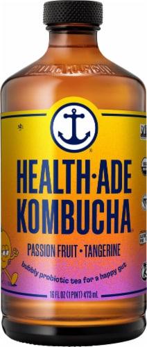 Health-Ade Passion Fruit Tangerine Kombucha Perspective: front