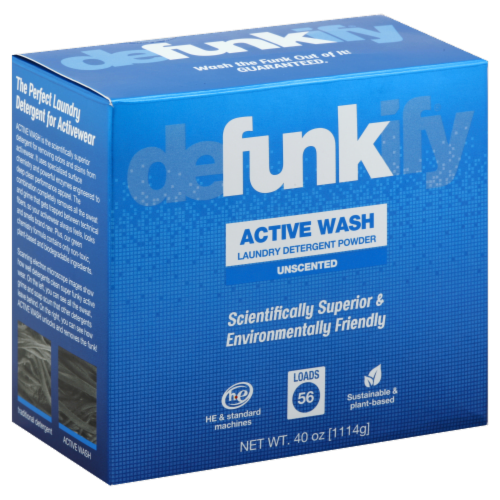 Defunkify Active Wash Laundry Detergent Powder Perspective: front