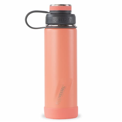 EcoVessel TriMax® Insulated Stainless Steel Water Bottle - Tropical Melon Perspective: front