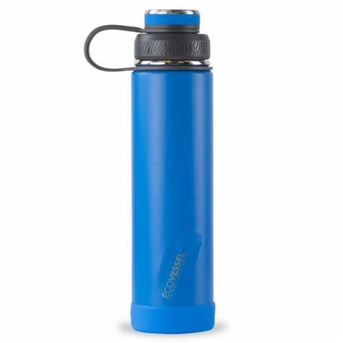 EcoVessel TriMax® Insulated Stainless Steel Water Bottle - Hudson Blue Perspective: front