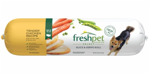 Freshpet Select Tender Chicken Recipe Slice & Serve Roll Dog Food Perspective: front