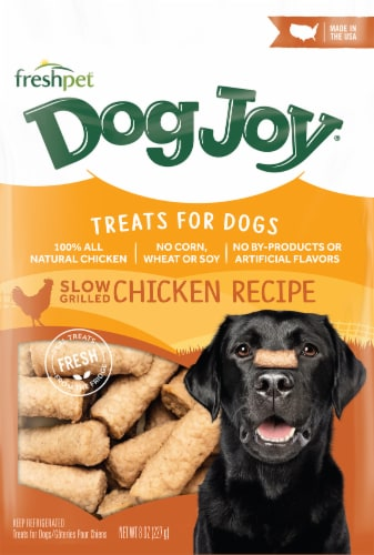 Freshpet DogJoy Slow-Grilled Chicken Recipe Treats Perspective: front
