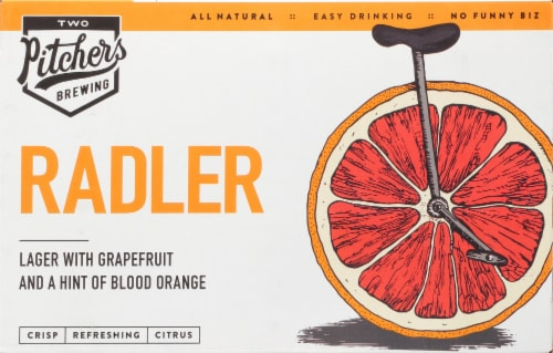 T.W. Pitchers' Brewing Co. Radler Lager Beer Perspective: front