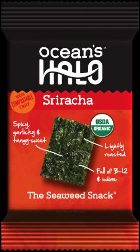 Ocean's Halo Sriracha Seaweed Snack Perspective: front