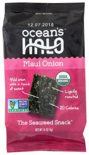 Ocean's Halo Maui Onion Seaweed Snack Perspective: front
