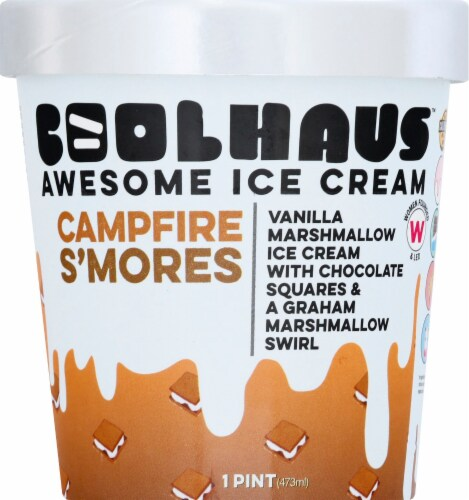 Coolhaus Campfire S'mores Vanilla Marshmallow Ice Cream Perspective: front