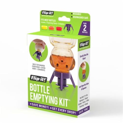 Flip-It 9041373 Purple Polypropylene Bottle Emptying Kit - Pack of 6 Perspective: front