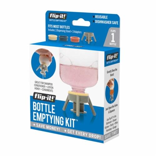 Flip-It 9041391 Gray Polypropylene Bottle Emptying Kit - Pack of 6 Perspective: front