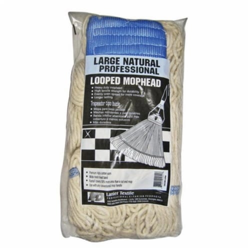 Elite  24 oz  Looped  Polyester Blend  Mop Refill  1 pk - Case Of: 1; Each Pack Qty: 1; Perspective: front