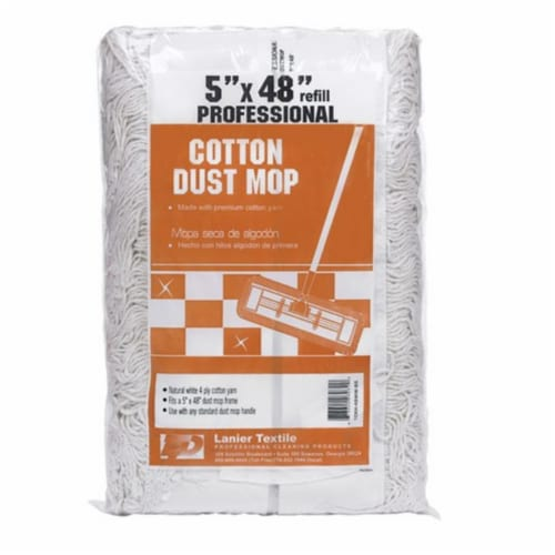 Elite  48 in. W Dust  4-Ply Cotton  Mop Refill  1 pk - Case Of: 1; Each Pack Qty: 1; Perspective: front