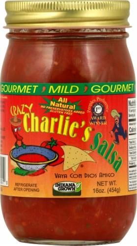 Crazy Charlie's Gourmet Mild Salsa Perspective: front