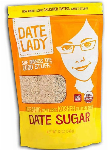 Date Lady  Organic Date Sugar Perspective: front
