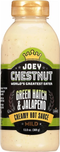 Joey Chestnut Mild Creamy Green Hatch & Jalapeno Wing & Dipping Sauce Perspective: front