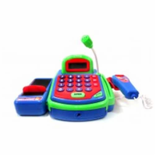 Az Import & Trading PS321 Pretend Play Electronic Cash Register Toy - Green Perspective: front