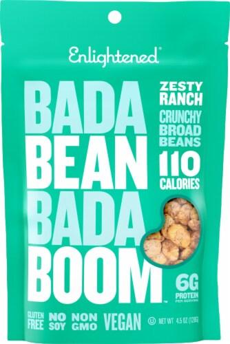 Enlightened Bada Bean Bada Boom Zesty Ranch Crunchy Broad Beans Snack Perspective: front