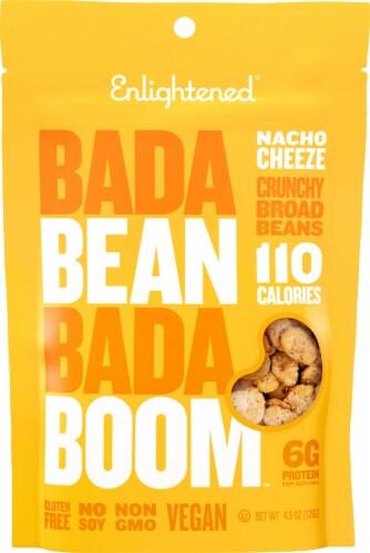 Enlightened Bada Bean Bada Boom Nacho Cheeze Crunchy Broad Beans Snack Perspective: front