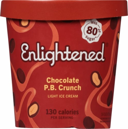 Enlightened Chocolate Peanut Butter Light Ice Cream Perspective: front