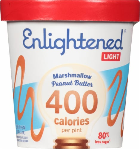 Enlightened Light Marshmellow Peanut Butter Ice Cream Perspective: front