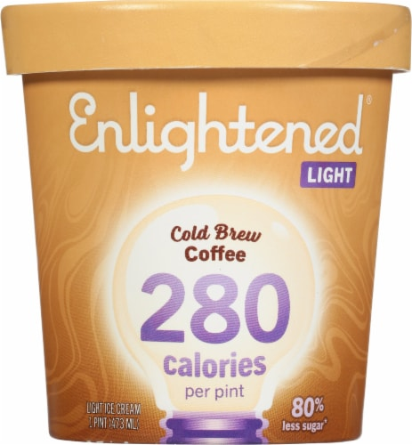 Enlightened Cold Brew Coffee Low Fat Ice Cream Perspective: front