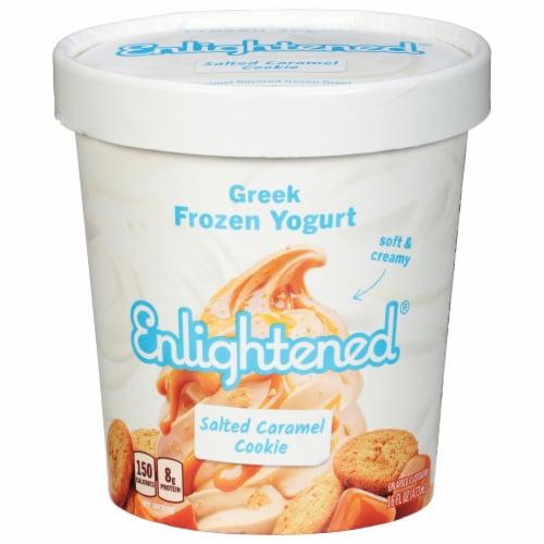 Enlightened Sea Salt Caramel Ice Cream Perspective: front