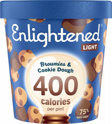 Enlightened Brownies & Cookie Dough Light Ice Cream Perspective: front