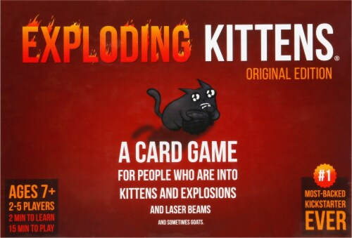 Exploding Kittens Original Edition Card Game Perspective: front
