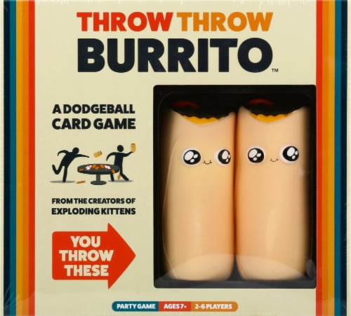 Throw Throw Burrito by Exploding Kittens Original Edition Party Game Perspective: front