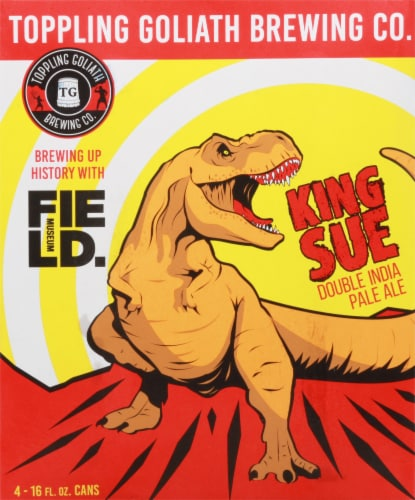 Toppling Goliath Brewing Co. King Sue Double India Pale Ale Beer Perspective: front