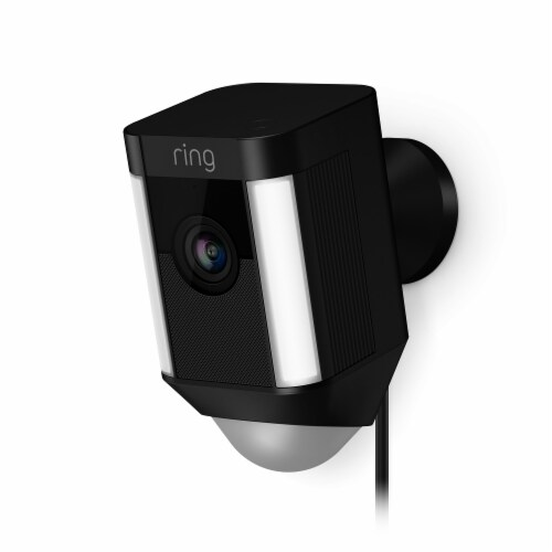 Ring™ Wired Spotlight Cam - Black Perspective: front