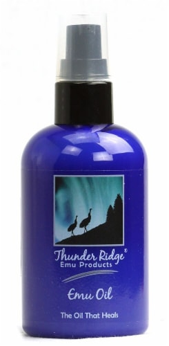 Thunder Ridge Emu Products  Emu Oil Perspective: front