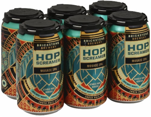Brickstone Brewery Hop Screamer Mosaic IPA Perspective: front